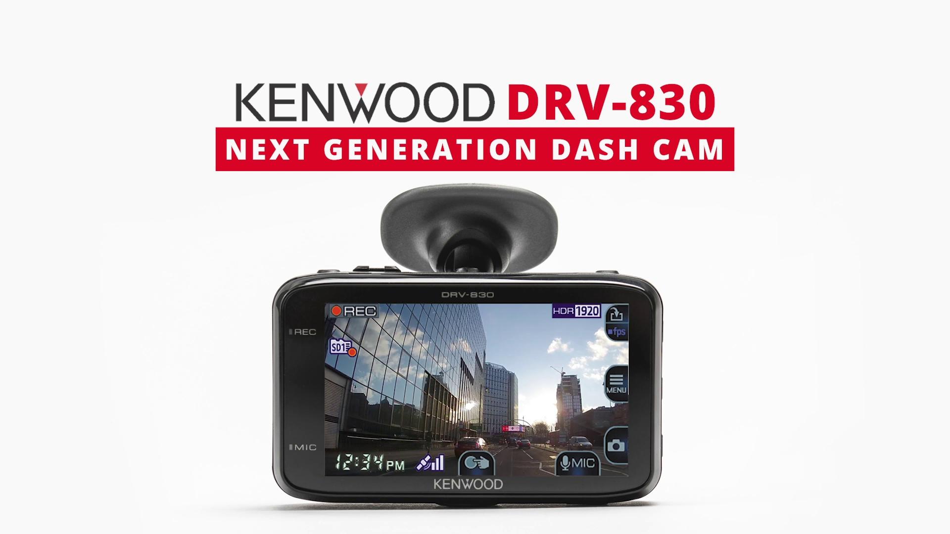 DRV-830 dash cam • KENWOOD UK