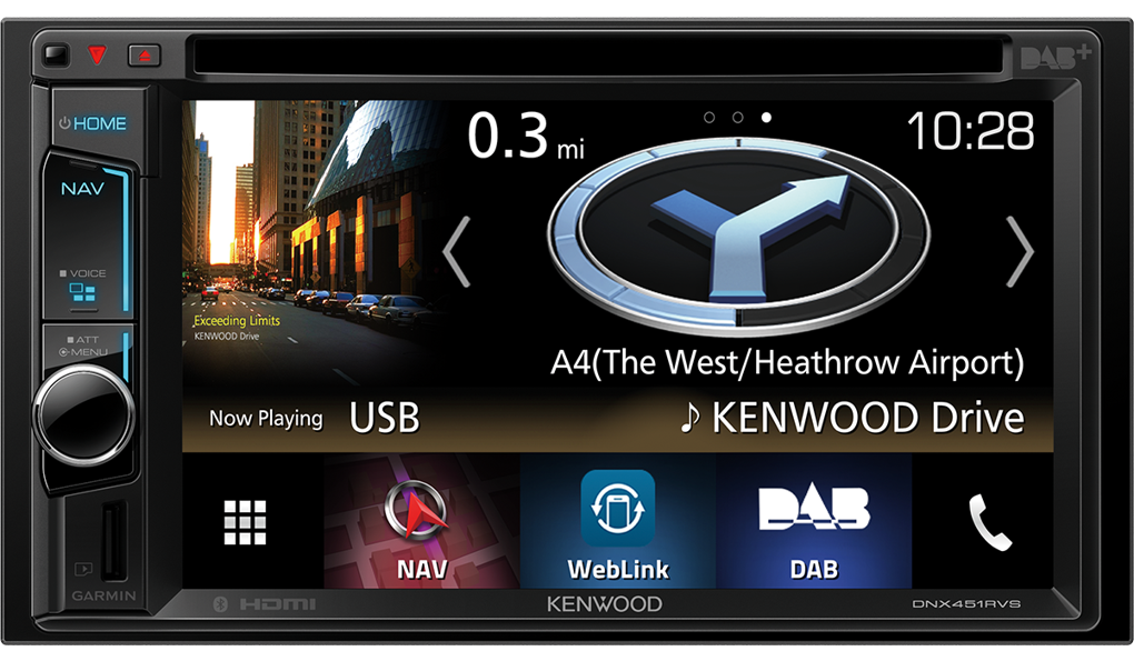 Kenwood DNX451RVS - DAB+, Navigation, Bluetooth