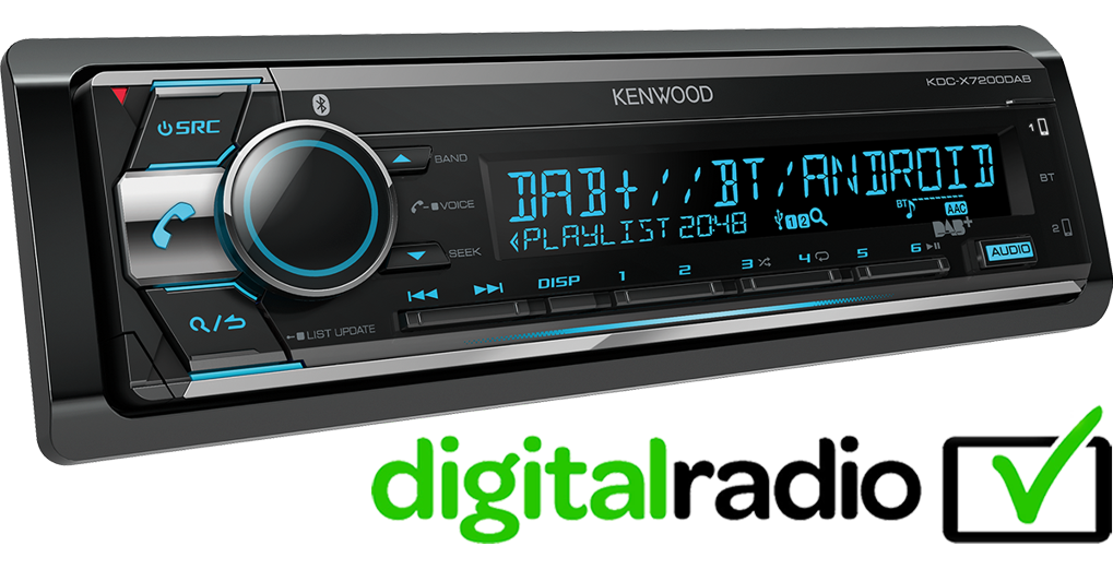 KDC-X7200DAB headunit with full iPhone/Android integration