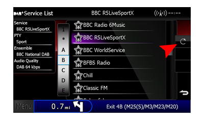 Searching for a Digital radio Station