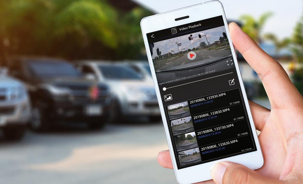 dash cam manager app DRV-A601W