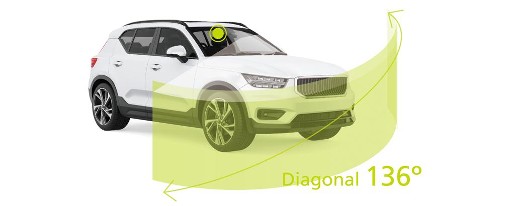 136 diagonal wide view Dash Cam DRV-A301W