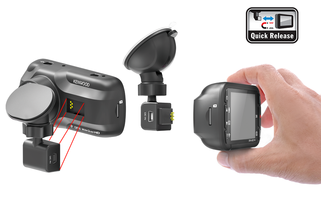Kenwood dash cam magnetic quick release