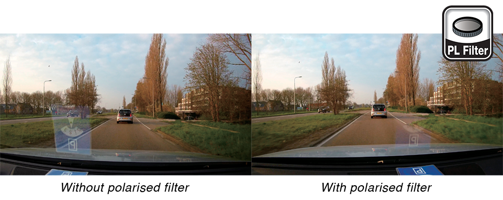 Kenwood dash cam polarised filter