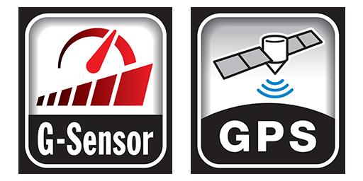G-Sensor & GPS DRV-A601W car dash cam
